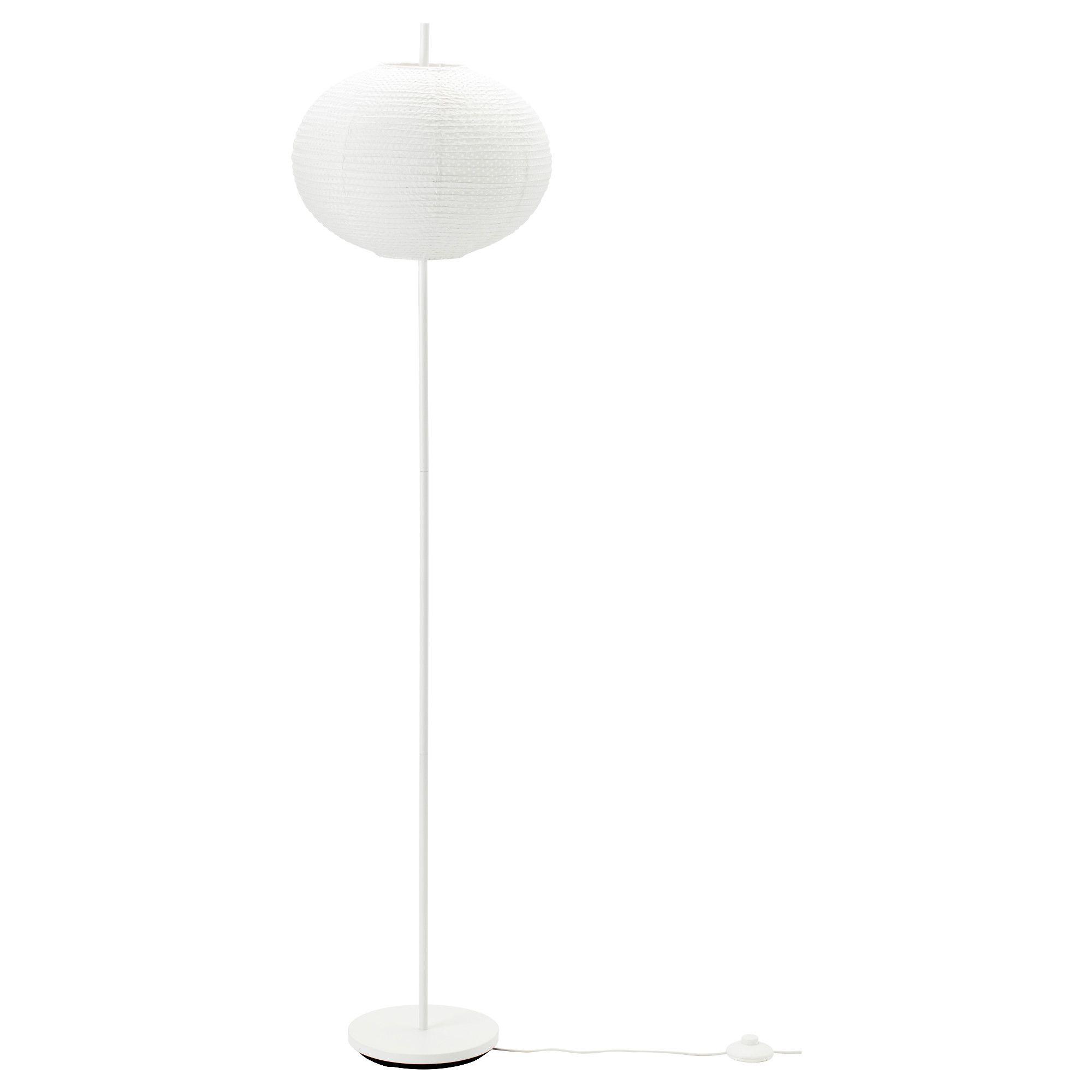 IKEA - SOLLEFTEÅ, Staande lamp, , Met een papieren lamp creëer je een zachte, gezellige sfeer in huis omdat de lamp een gelijkmatig en decoratief licht verspreidt.