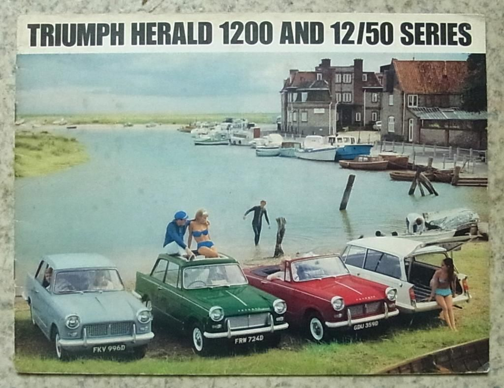 TRIUMPH HERALD 1200 & 12/50 SERIES Car Sales Brochure 1967 #375/467 ...