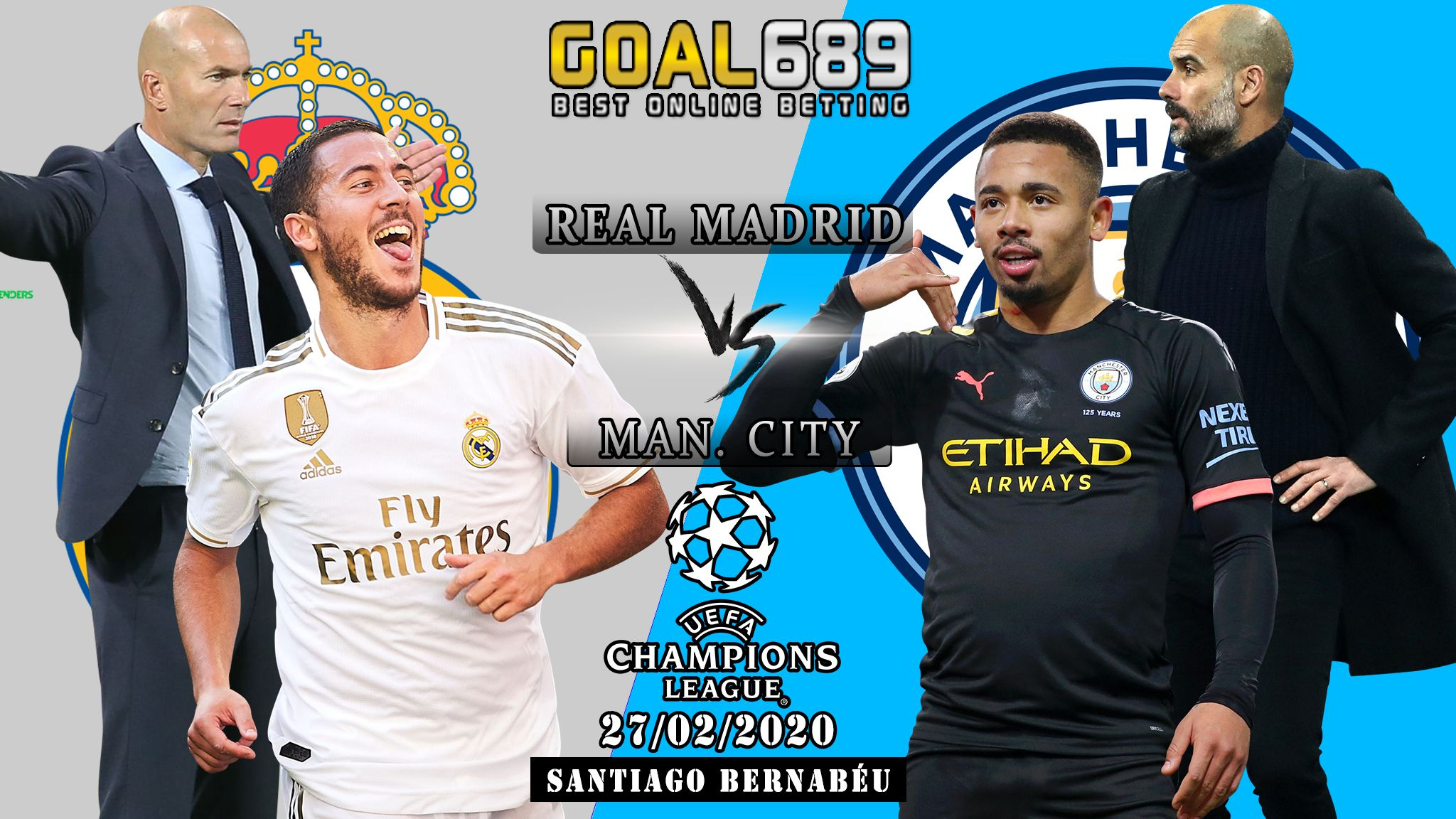 Prediksi Real Madrid Vs Manchester City 27 Februari 2020 Agenbola Agenbolaterpercaya Prediksibola Goal689 Agenbandarq In 2020 Real Madrid Manchester City Madrid