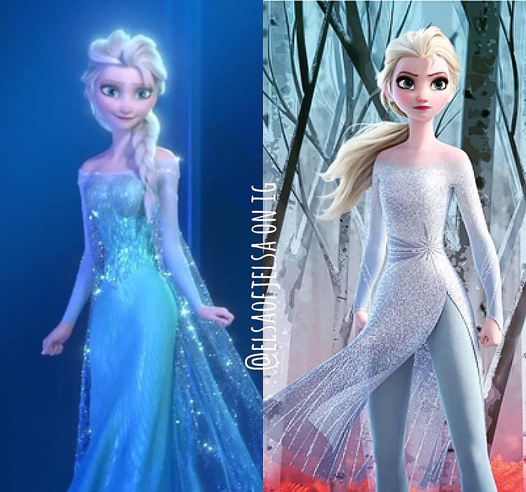 Elsa S Gurl Sofea On Instagram Frozen 2 Comparison Edits Anddd Here S Elsa Q 1 2 Or 3 Disney Princess Frozen Disney Frozen Elsa Disney Elsa