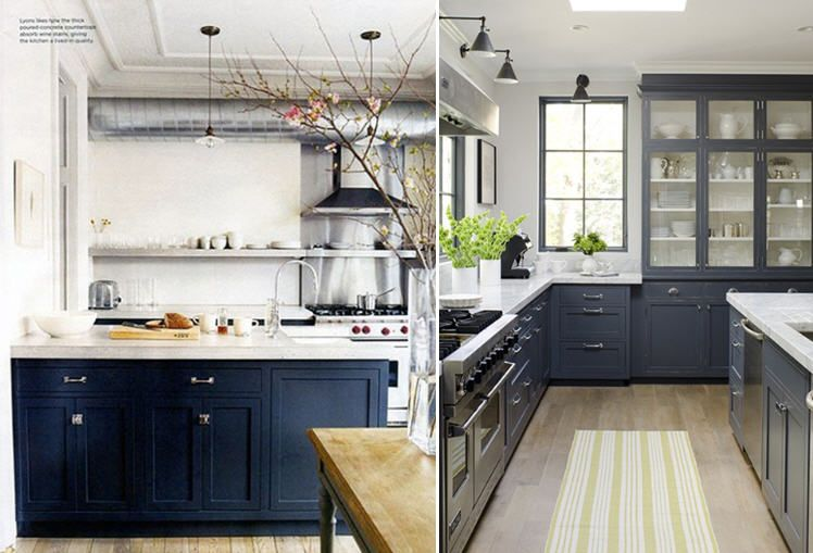 Navy Blue Kitchen White Cabinets Kitchen A Story About A Homeliving Room Part 41