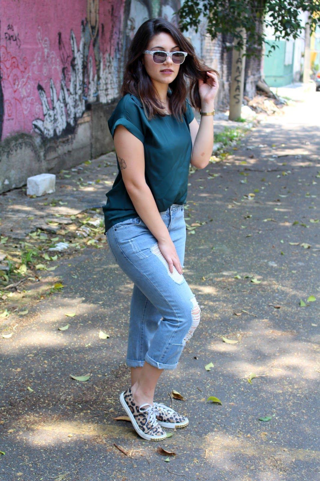 6c5eed43a Look calça capri jeans