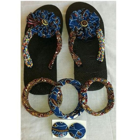 b5ad3760e7ce3 African Print Slippers by EJAfricanProducts on Etsy | African ...