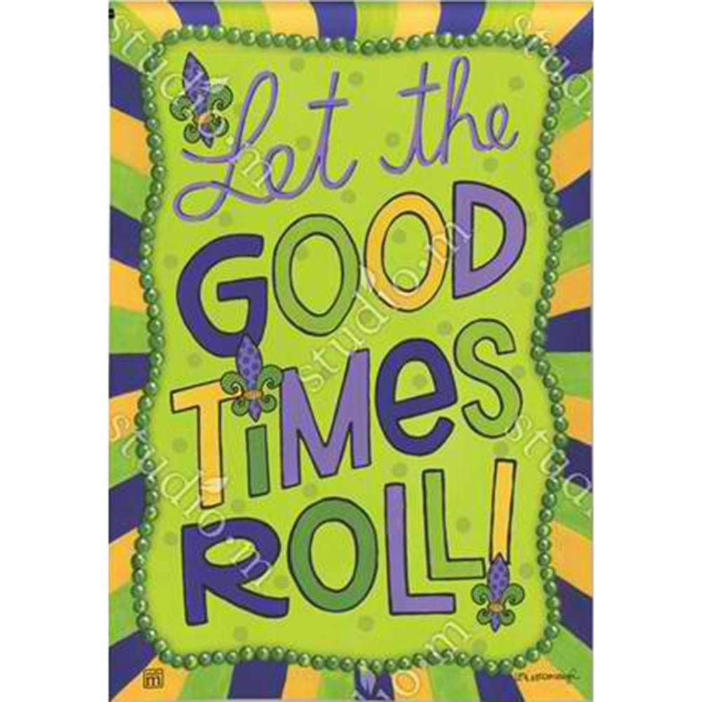 """About the Design """"Let the good times roll"""" message is"""