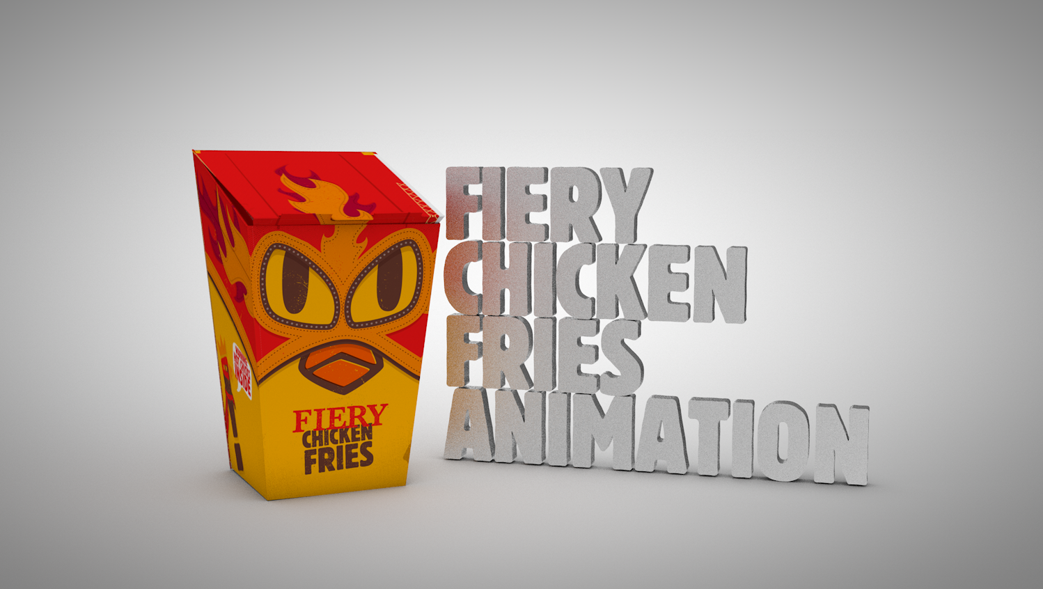 Check Out My Behance Project Fiery Chicken Fries Animations Https Www Behance Net Gallery 70548669 Fiery Chicken Fries Anim Fried Chicken Animation Fries