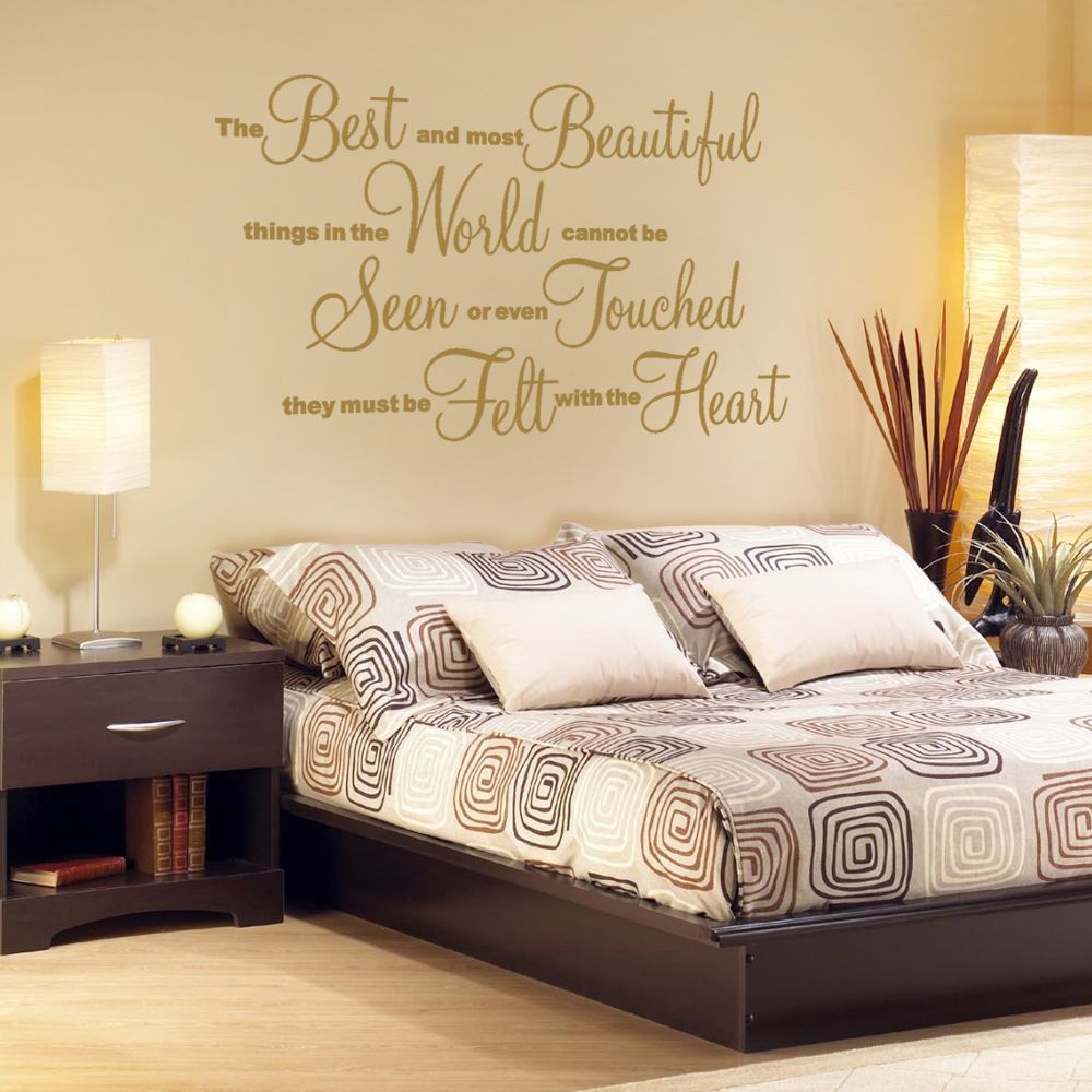 Most Beautiful - Wall Decal Sticker Quote lounge living room bedroom ...