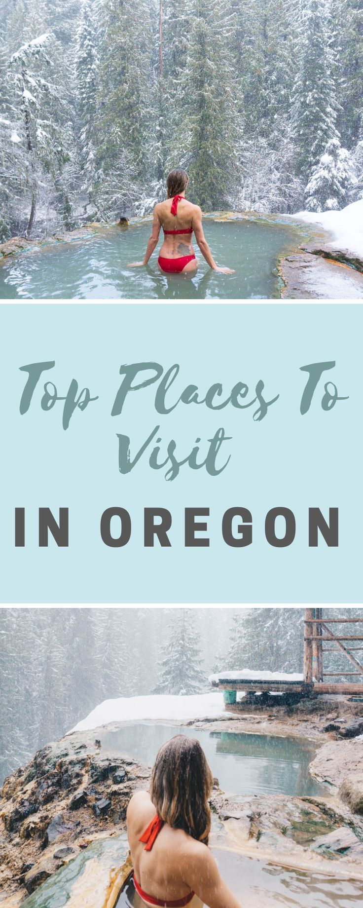 A guide to the top 10 beautiful places to visit in Oregon! From hidden hot springs to incredible waterfalls, we cover all the best destinations in Oregon.