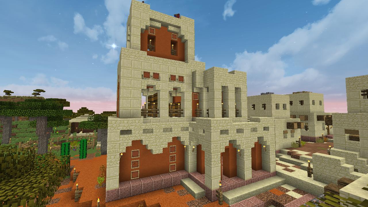 desert city / minecraft sandstone village  Minecraft city