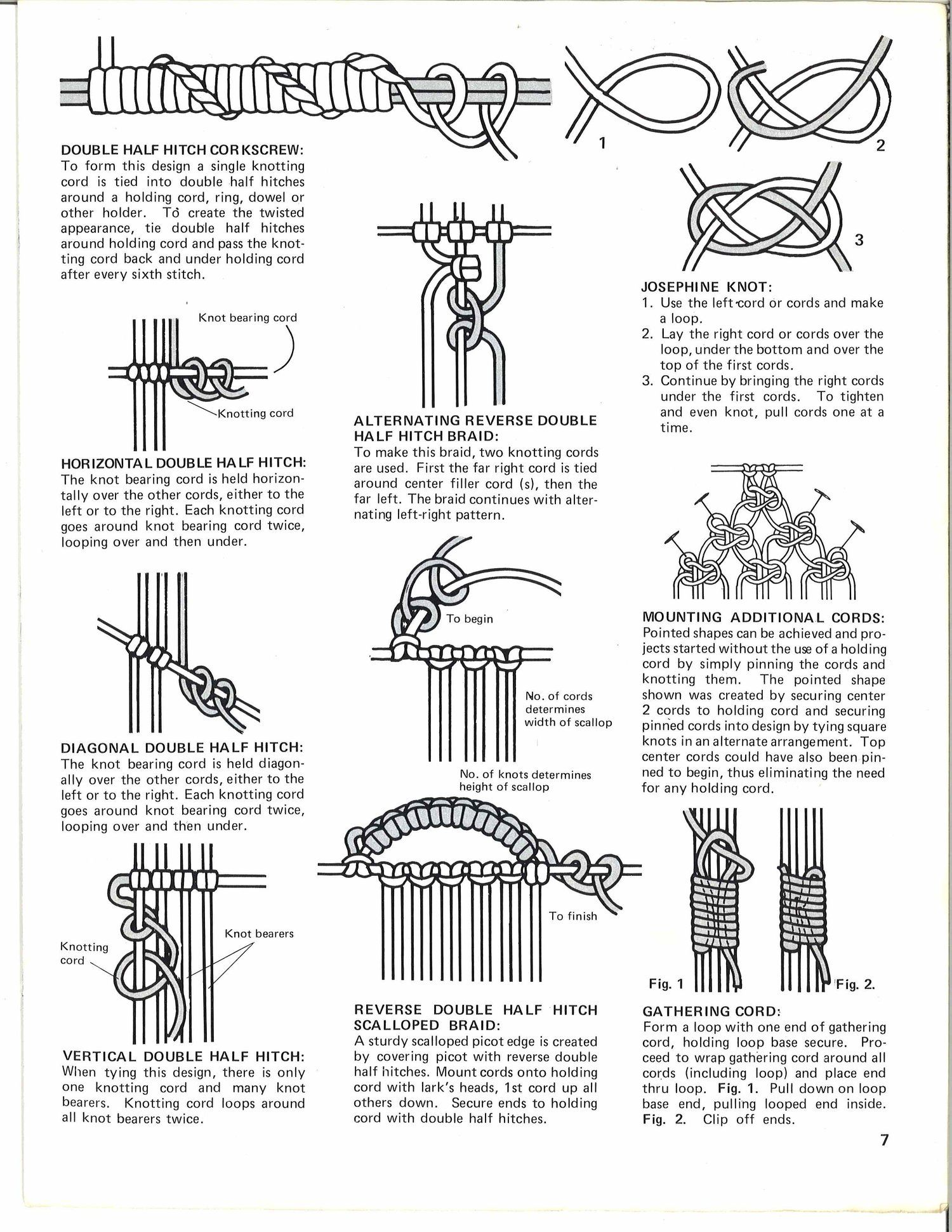 Macrame Curtains Room Dividers Book Vintage 1970s Macrame