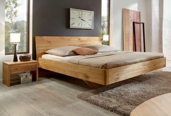 Bett Vita Wildeiche Massiv Bed Bett Schwebendes Bett Schlafzimmer