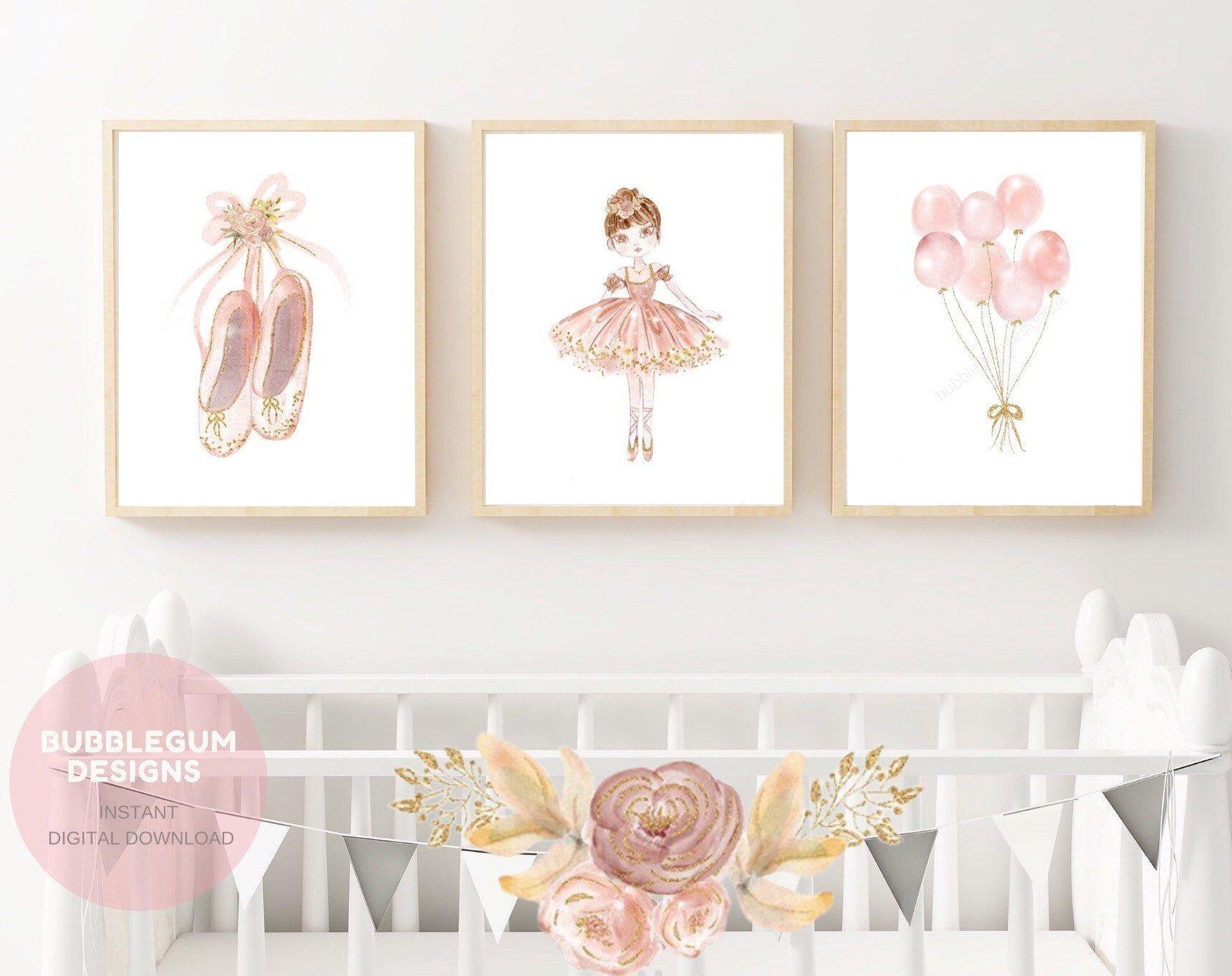 Blush Ballerina Nursery Wall Art Ballerina Printable Art