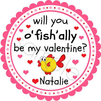 Another special request design made it into the shop!  A Valentine Fish.  Personalized stickers by partyINK.