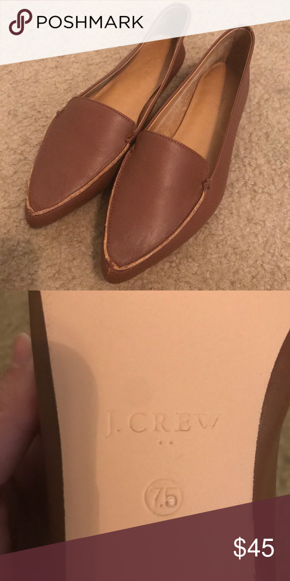 9be25ce44db J.Crew Factory Edie loafers NWOT J.Crew Edie leather loafers in a nice warm  brown. I m in between sizes and ended up needing the larger of the two.