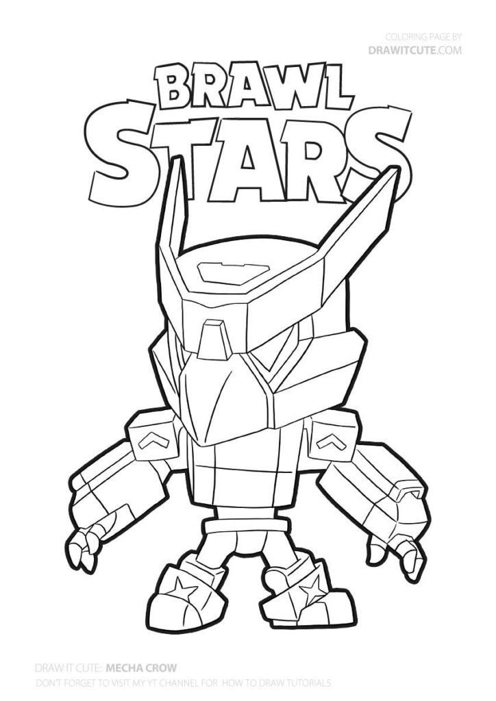 Mecha Crow Brawl Stars Coloring Page Color For Fun In 2020 Star Coloring Pages Coloring Pages Free Coloring Pages