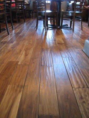 "3/4"" Handscraped Acacia Walnut Solid Prefinished Hardwood"