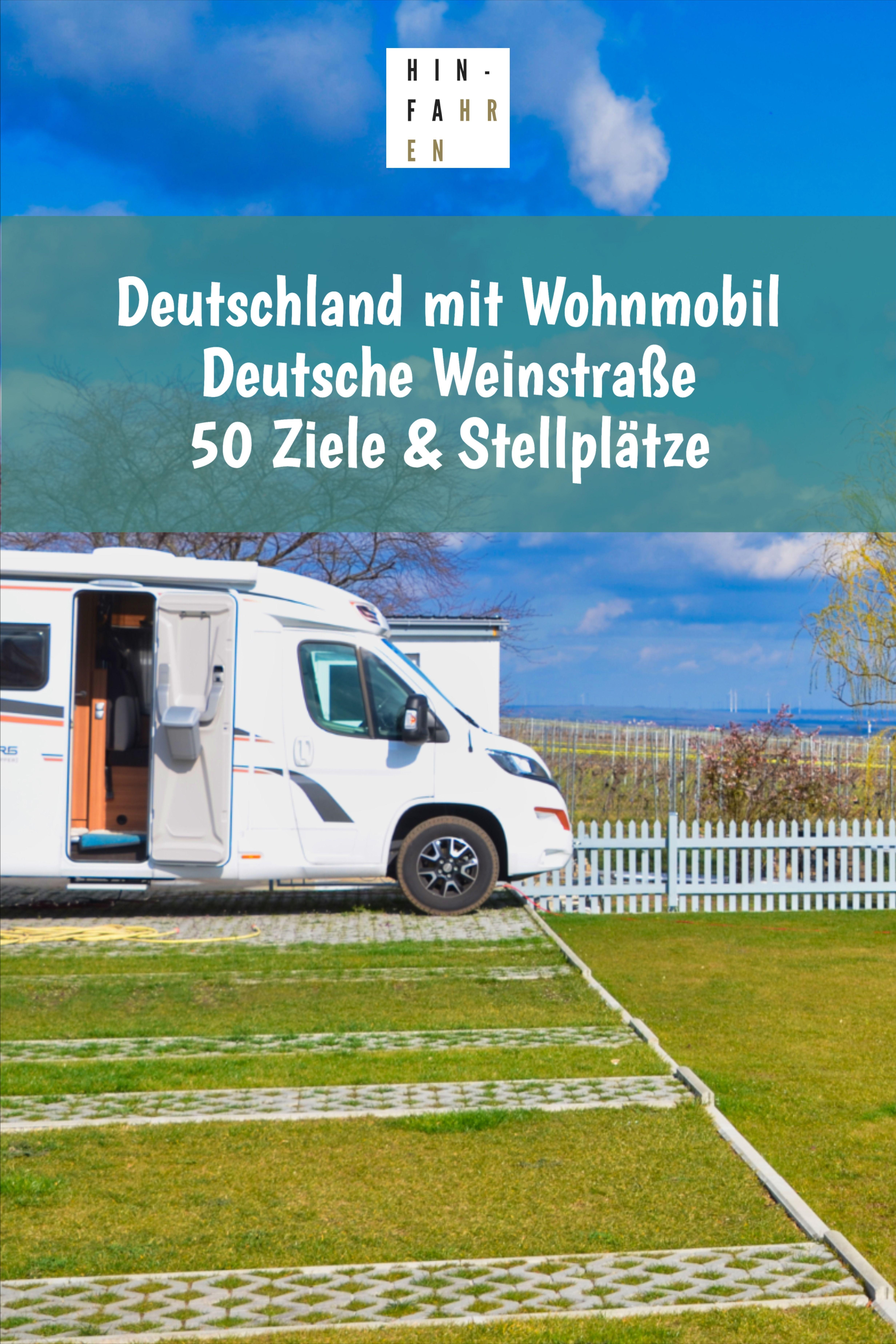 Ziele mit Wohnmobil in Deutschland: Die Deutsche Weinstraße in der