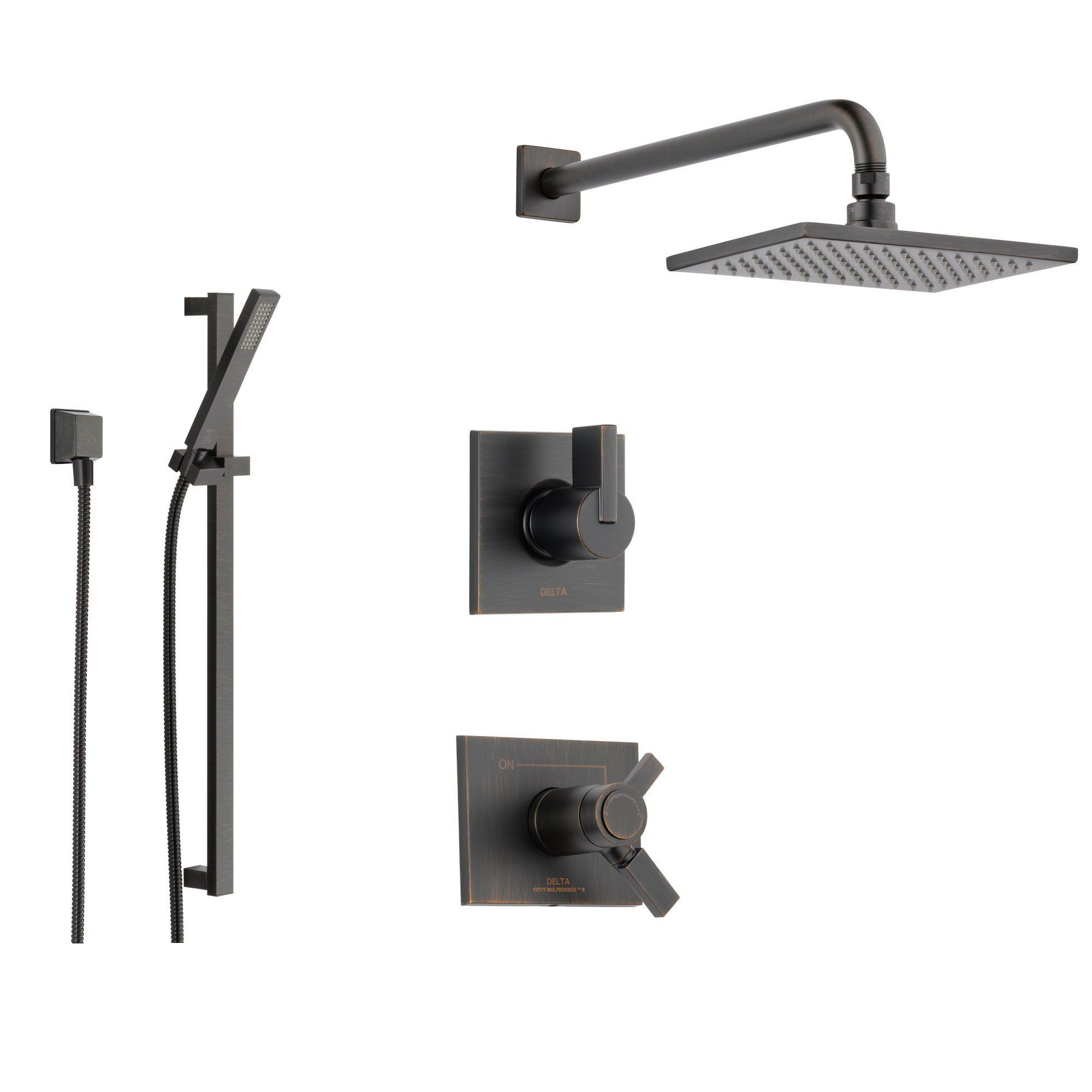 Delta Vero Venetian Bronze Shower System With Thermostatic Shower