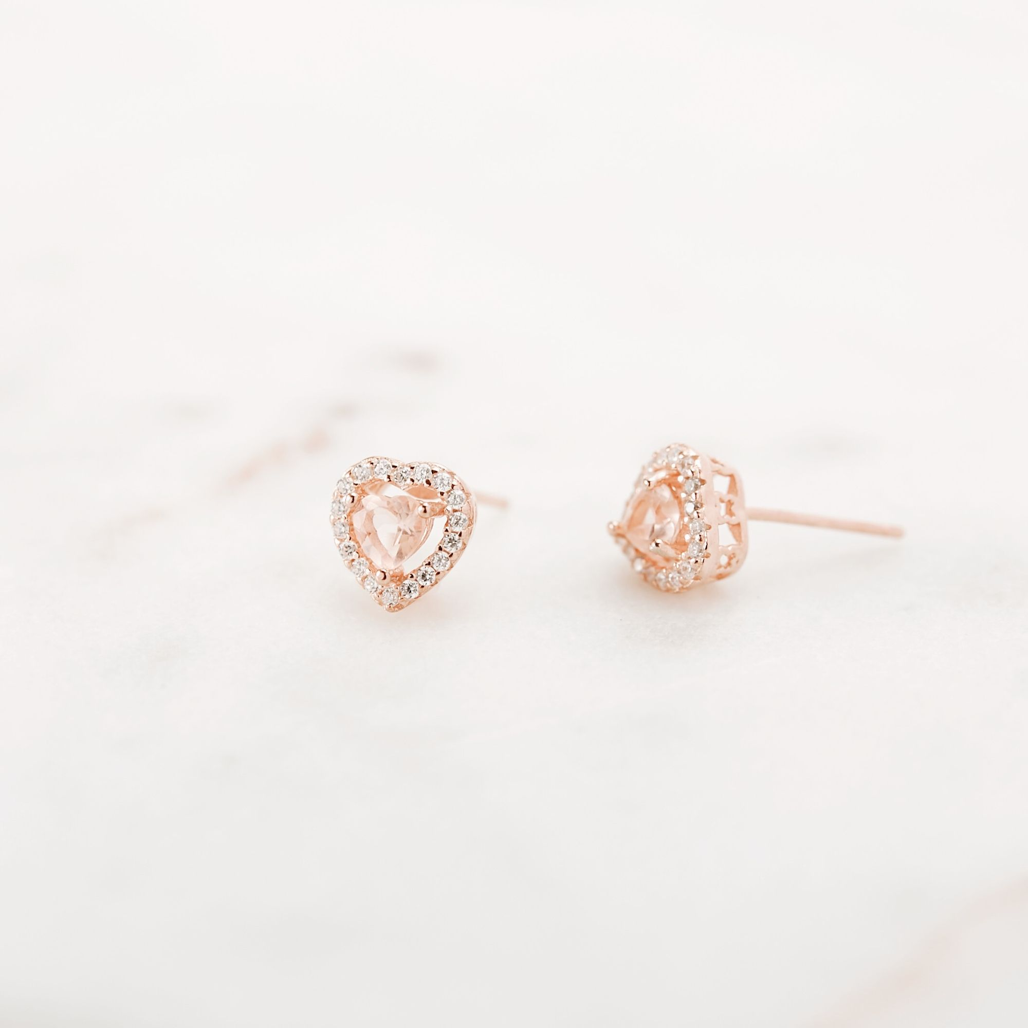 10x Rose Gold Rhinestone Pearl Button Crystal Finding Charm Earrings DIY