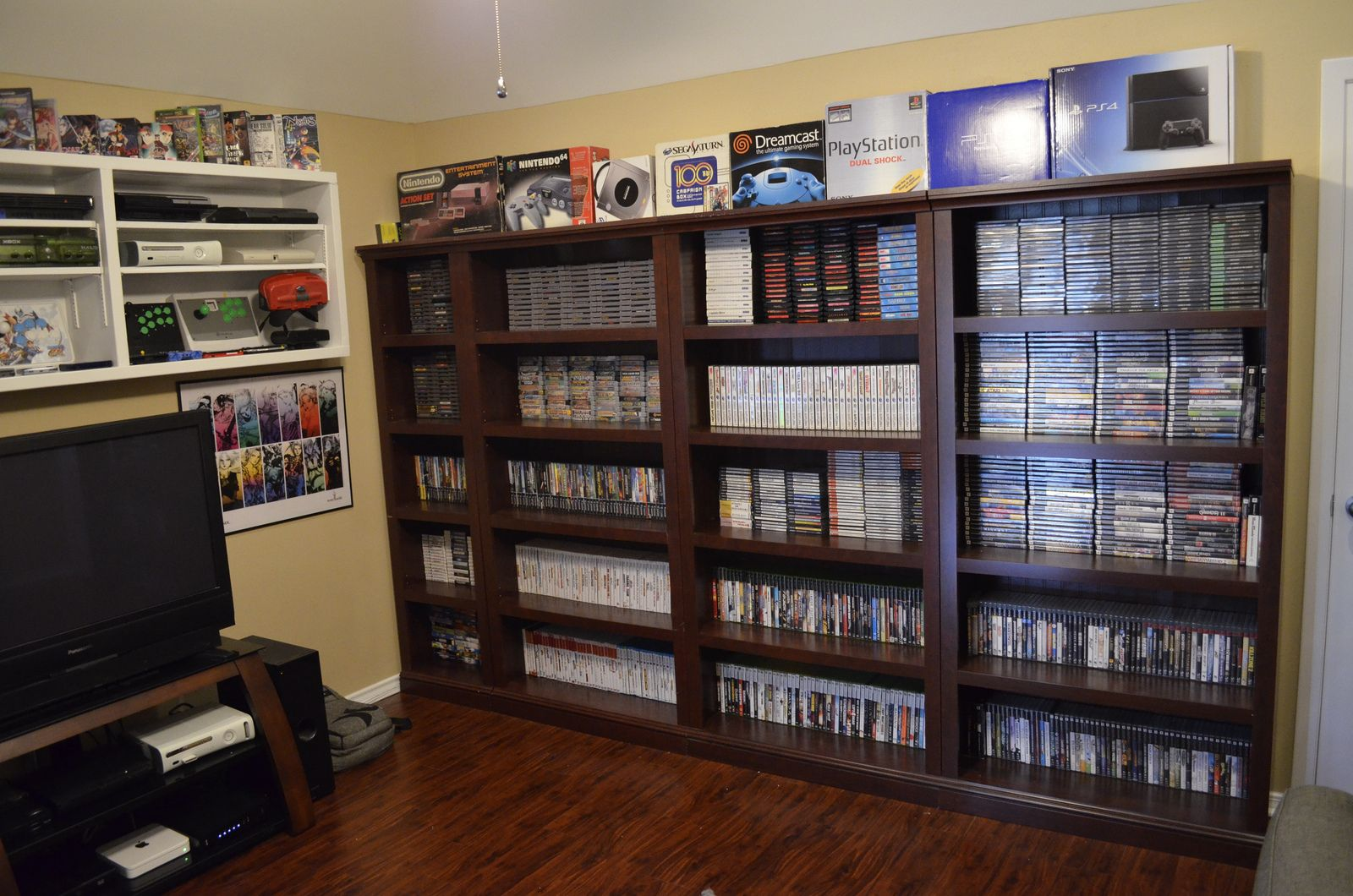 Exceptional Nerd Cave, Man Cave, Gameroom Ideas, Basement Ideas, Gamer Room, Game  Storage, Storage Ideas, Gaming Rooms, Gaming Setup