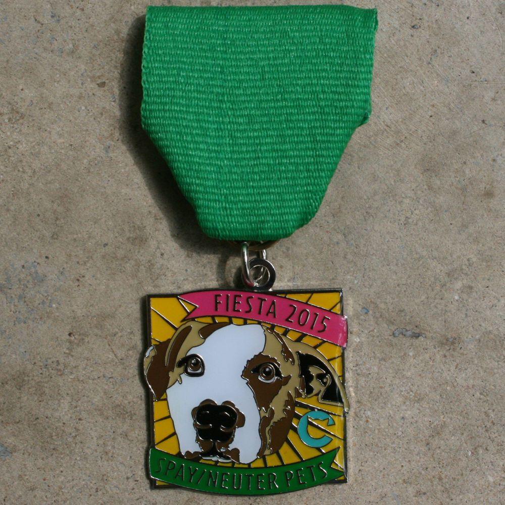 Fiesta 2015 dog medal spayneuter pets limited edition