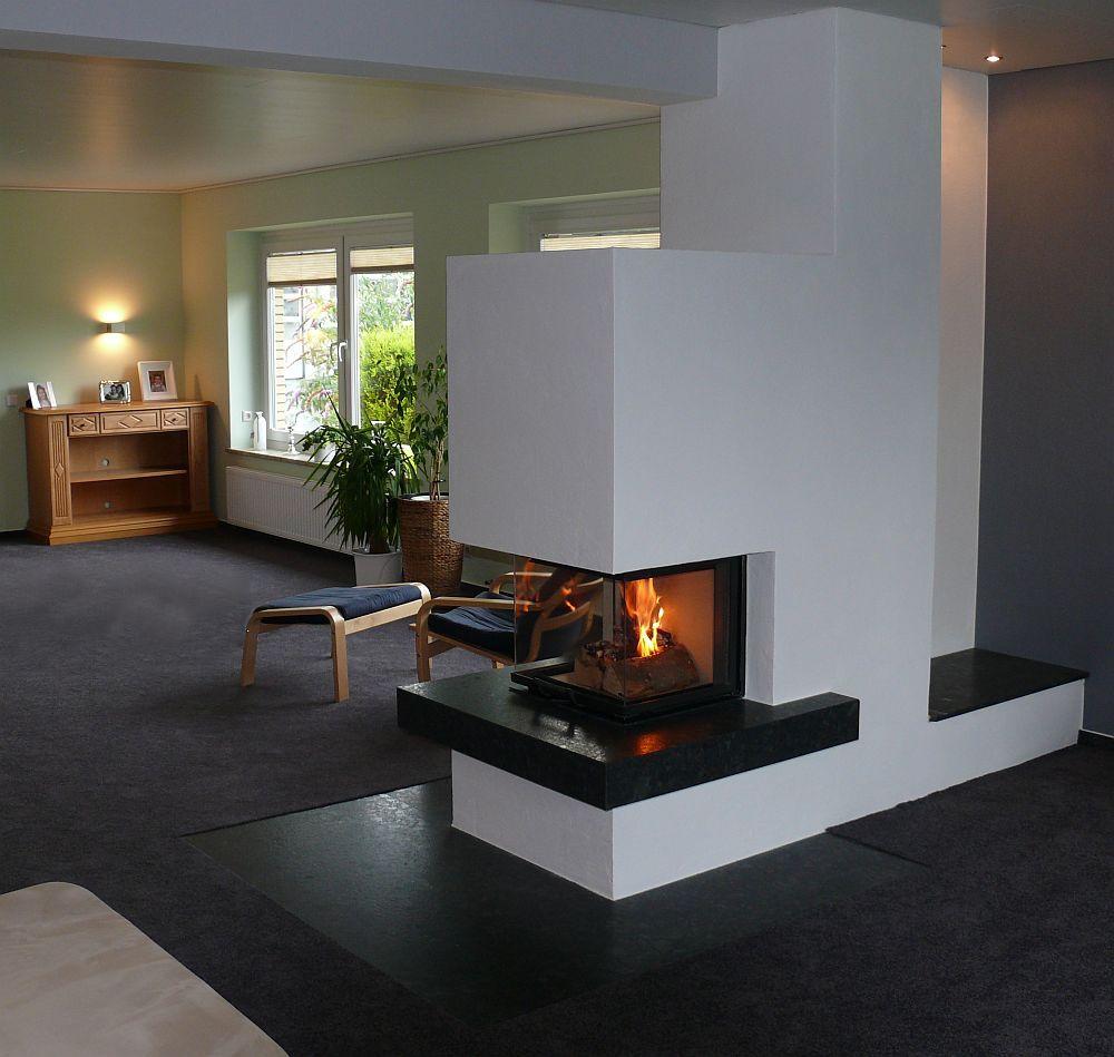 pic kamin dreiseitenkamin bauen pinterest living rooms room and house. Black Bedroom Furniture Sets. Home Design Ideas