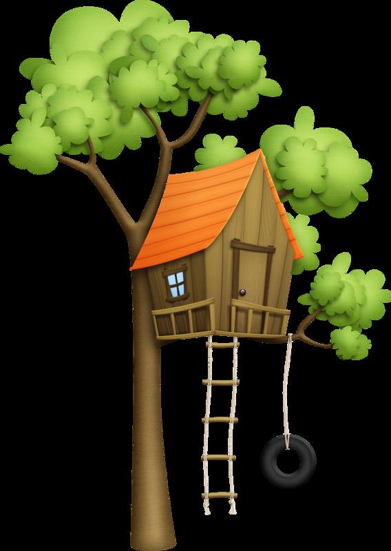 Картинки дерево домик