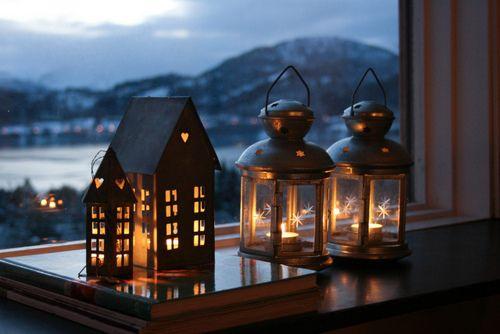 Log In Lanterns Decor Lantern Lights Christmas Lanterns