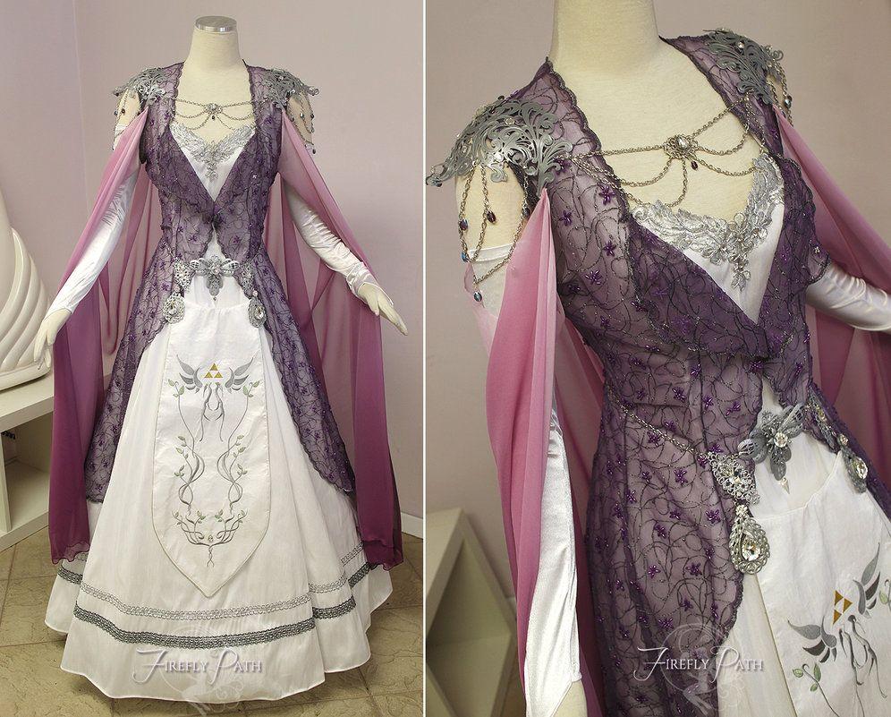 Princess Zelda Bridal Gown By Lillyxandra Deviantart On