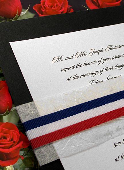 elegant patriotic invitation idea with unryu and red, white and, Wedding invitations