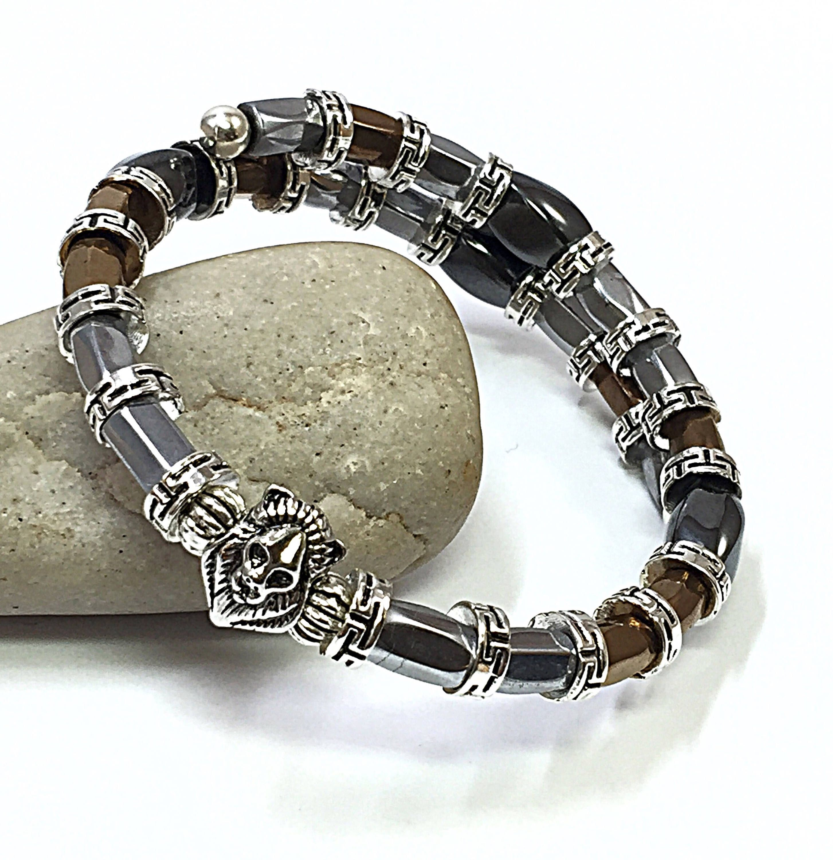 Magnetic hematite bracelet menus bracelet silver menus bracelet