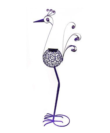 "Loving this 36"" Purple Solar Filigree Bird Garden Statue on #zulily! #zulilyfinds"