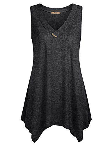 4e0768a97df Sleeveless Tunic Miusey Womens V Neck Shirts Summer Loose... https ...