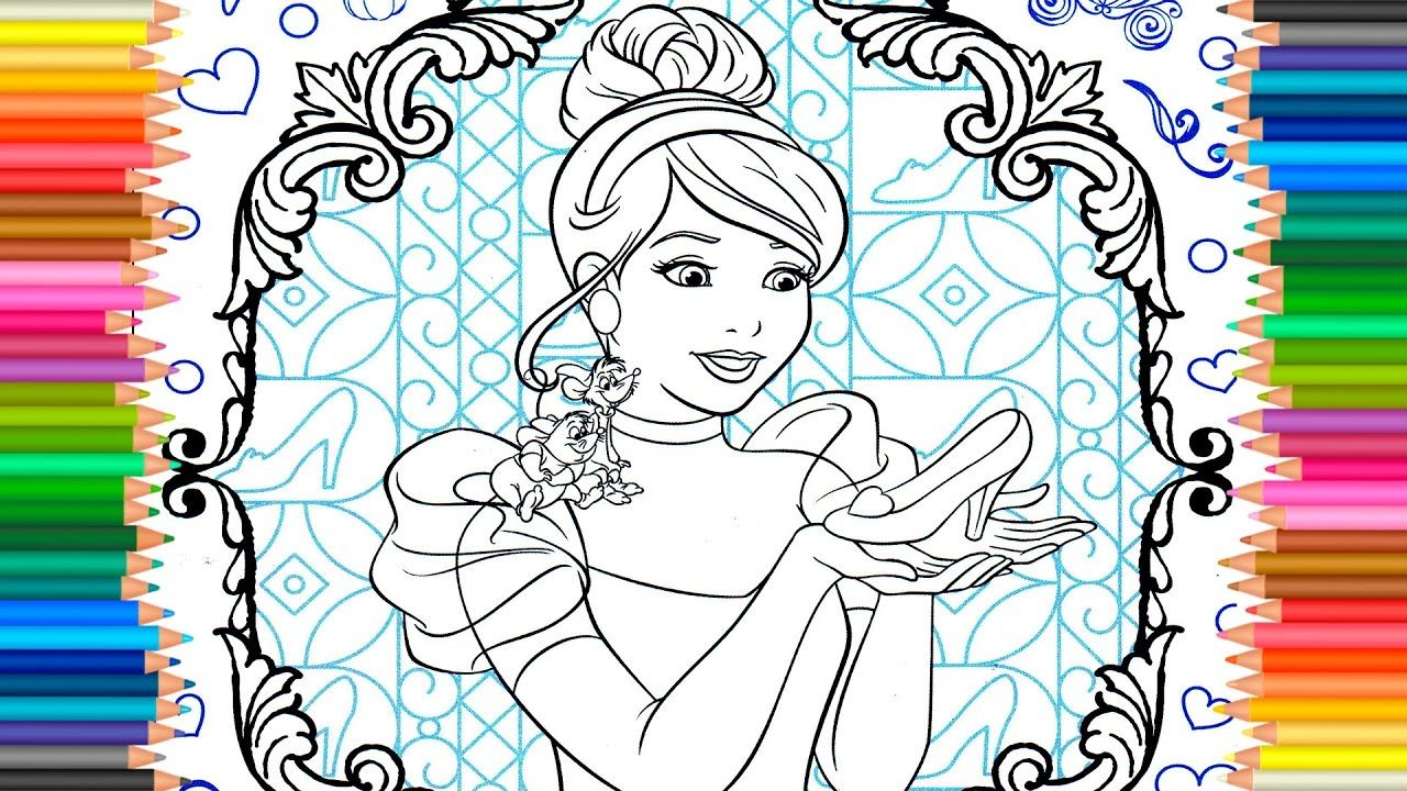 Educational coloring pages princess - Disney Educational Coloring Pages Disney Princess Of Cinderella Learning Coloring Pages For Children With