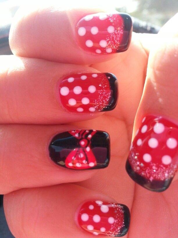 Minnie Mouse Gel Style ;-)♡♡♡ | cute nails | Pinterest | Disney ...