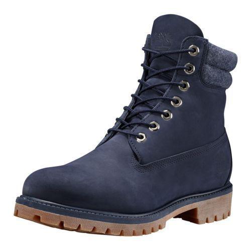 timberland 6 premium waterproof boots - mens navy monochrome