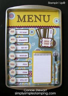 Cookie Sheet Menu Board made with Floral District DSP