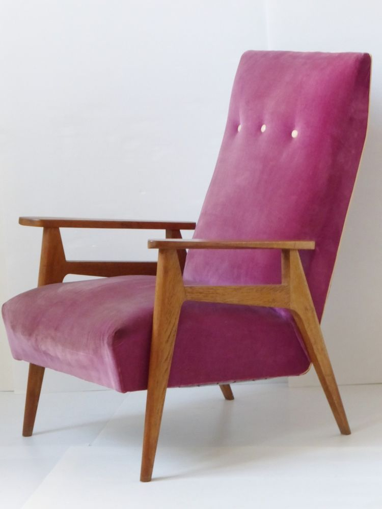 FAUTEUIL ANNEES 1950 VINTAGE 50S ROCKABILLY 50 S ZAZOU MIDCENTURY FRENCH  CHAIR