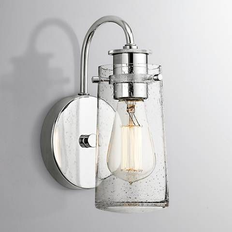 Kichler Braelyn Chrome 9 High Seedy Glass Wall Sconce 8v819 Lamps Plus Wall Sconces Modern Wall Sconces Bathroom Sconces
