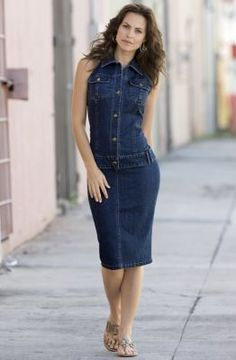 e813466f33 Stretch Denim Dress from Monroe   Main