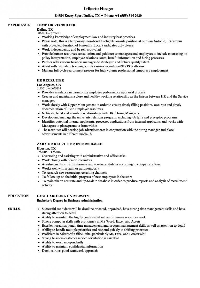 13 Pattern Resume For Zara