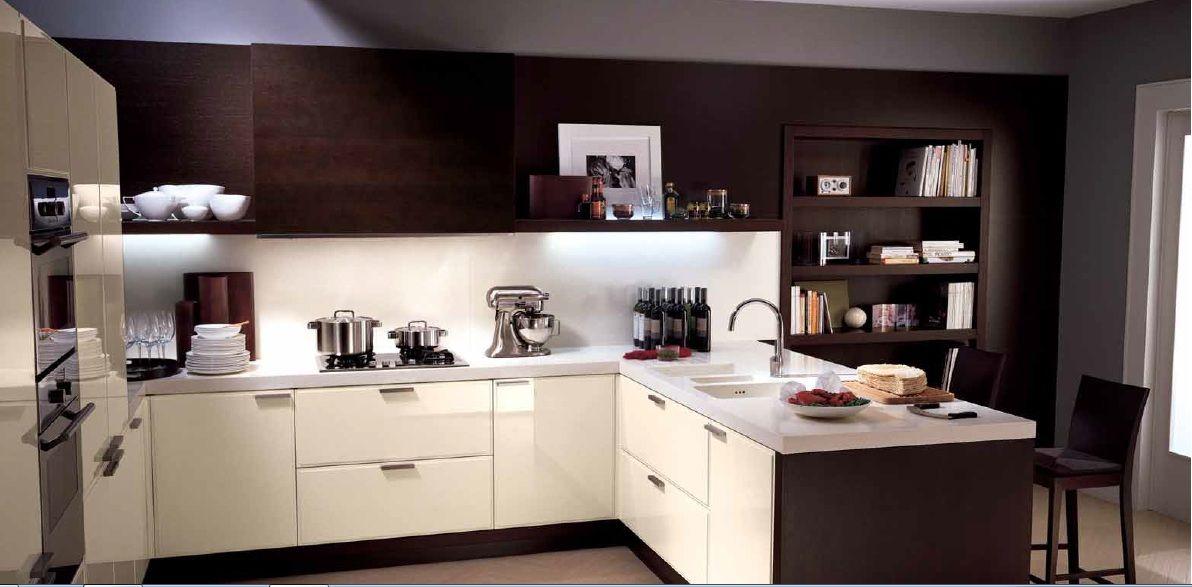 Cocina Blanca Y Cafe Con Imagenes Cocinas Integrales Diseno