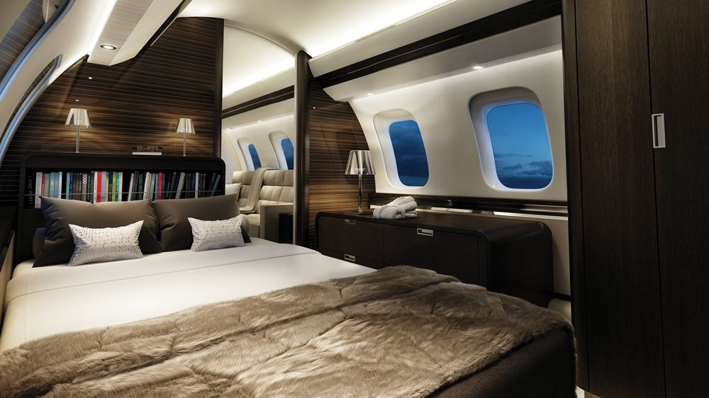 Exceptional Bombardier Global 7000 Bedroom.