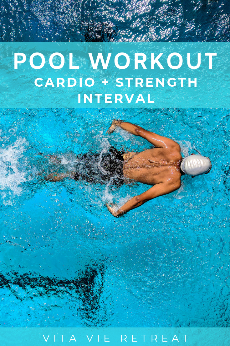 Pool Workout: Cardio Strength Interval #cardioworkouts