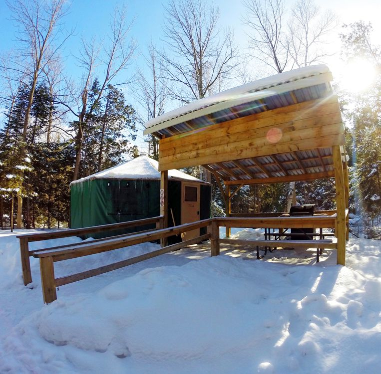 Photo of Winter Camping in a Yurt at MacGregor Point Provincial Park Bruce County
