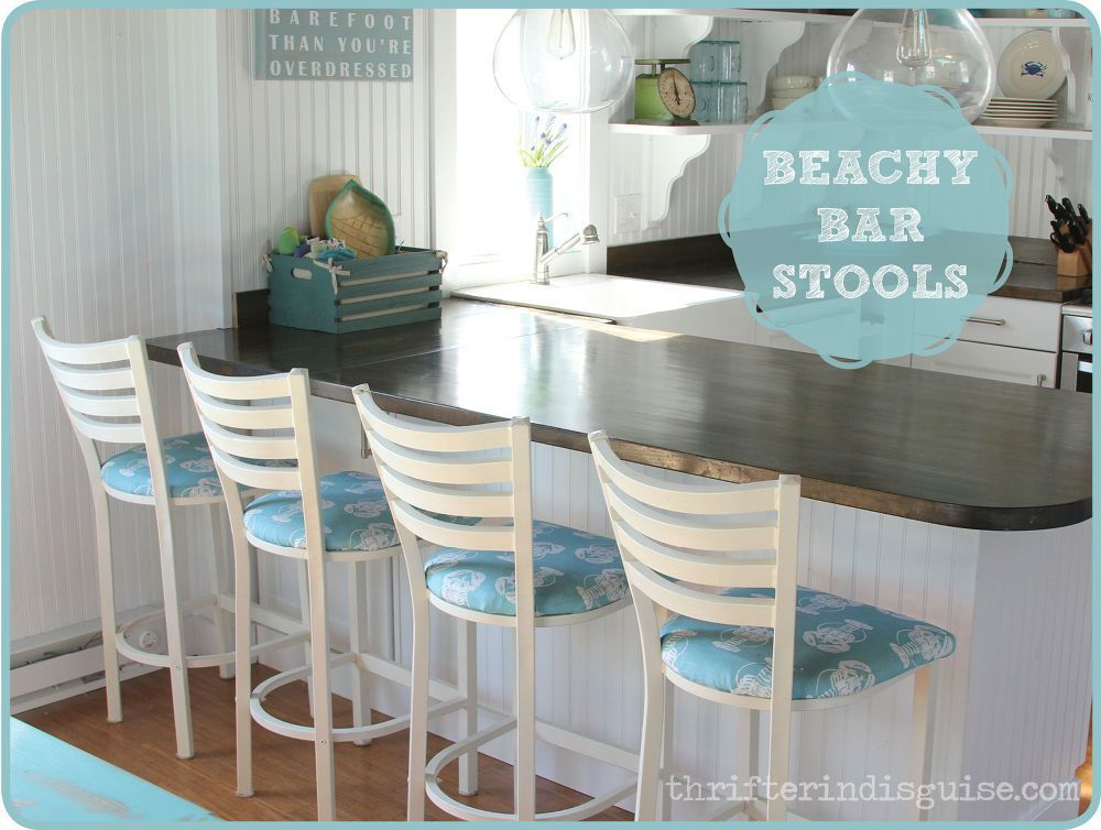 Cafe Castaways Become Beachy Bar Stools Beach Cottage