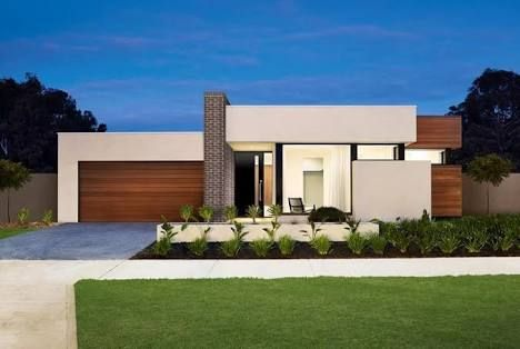 flat roof house facades - Google Search