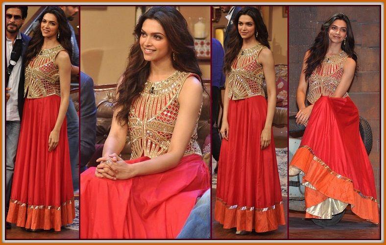 Deepika Padukone wearing smashing orange Gown | Orange ...