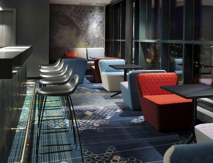 modern and colourful hotel modern colourful hotel bar decor