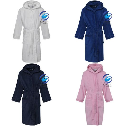 33e5158d34 Details about Kids Boys Girls 100% Egyptian Cotton Velour Terry Towelling  Bath Robe Hooded