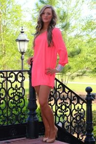 Simply Irresistible Dress: Neon Coral